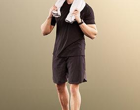 3D model 11598 Kilian - Sporty Man Training With Towel