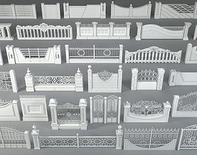 3D model Fences - 31 pieces