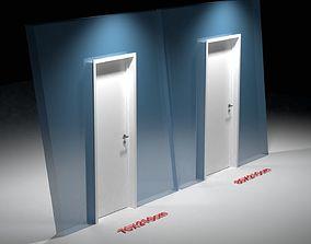 Door with handle 3D model