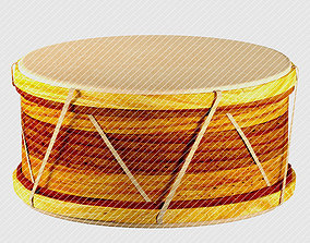 3D model Marwan drum percussion traditional malay
