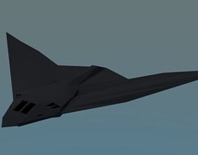 3D asset Stealth aircraft - Endrio Infiniti WarFalcon S-1