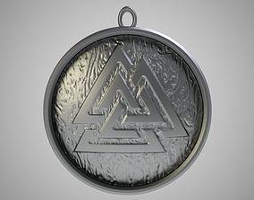 Valknut Necklace 3D printable model
