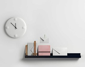 3D model Composition with Envelope and Wall Clock