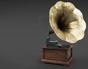 3D model PBR Gramophone speaker