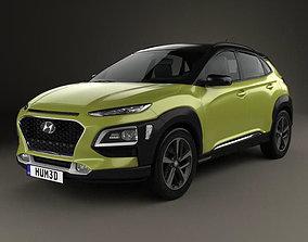 Hyundai Kona 2018 compact 3D