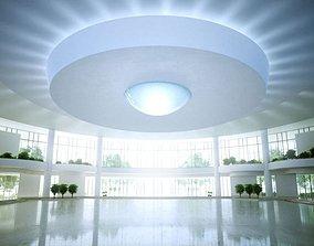 Spacious Luxury Hall 3D