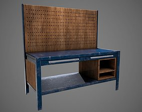 Work Bench PBR Game Ready Low Poly 3D model