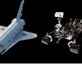 PBR Space Shuttle and Mars Rover 3D models