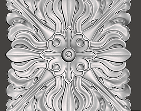 WoodCarving floral detail - 3d model for 3