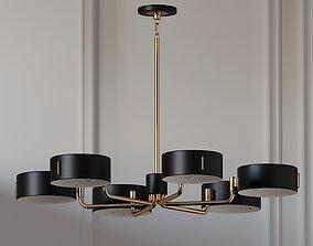 Robert Abbey Simon Modern Brass Chandelier 3D