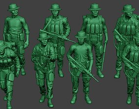 3D model Modern Jungle Soldiers MJS1 Pack 4