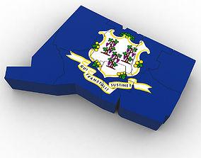 3D Connecticut Political Map