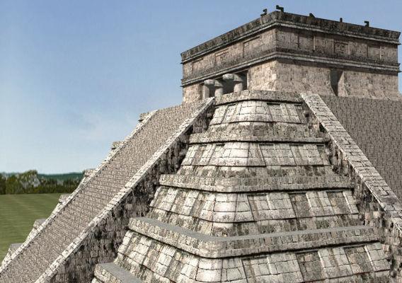 Photoreal Mayan temple