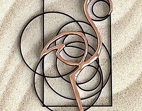 Flamingo circles pendant 3D printable model