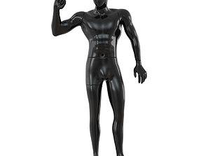 3D Black male mannequin posing 65