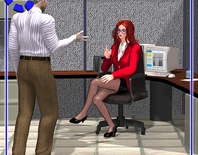 Office Cubicle for Poser 3D