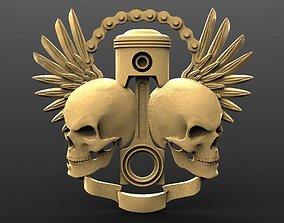3D print model Skul pistons 3 bas-relief