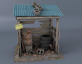 3D model Scrap cabine asset