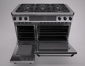 48 inch gas range cooker 3D model