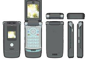 3D model Motorola RAZR phone