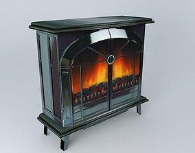 Black Lead Stove Coke Flame Fire 3D model