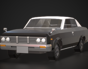 3D model Low-Poly Retro City Car 02