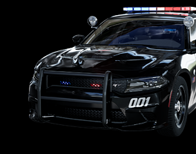 3D asset UE4 2016 Dodge Charger Pursuit Hellcat with