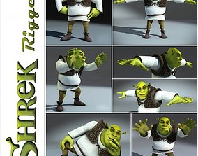 3D model Shrek rigged 1 0