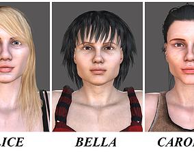 3D ALICE-BELLA-CAROLINE