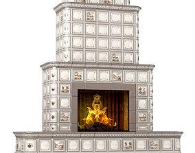 3D Ceramic Fireplace