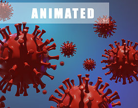 3D model Corona virus animated
