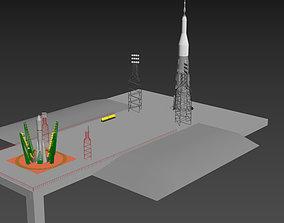 3D model space center Baykonur