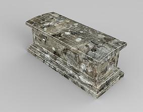 3D model Lowpoly Gravestone