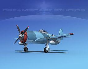 Republic P-47D Thunderbolt V06 3D