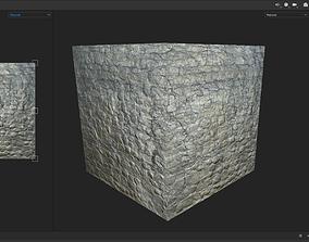 3D asset Seamless Stonework PBR Texture