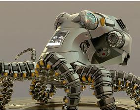 3D model Mechanical Octopus