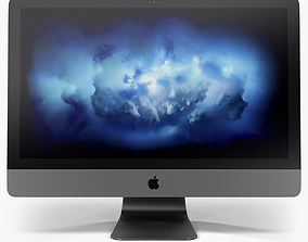 3D Apple iMac Pro Retina 5K 27inch Display
