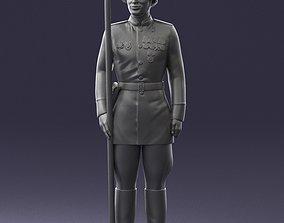 Man in military uniform 0116-7 3D Print Ready