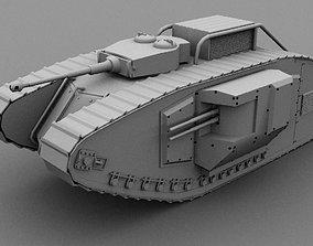 mark 2 tank modification 3D asset