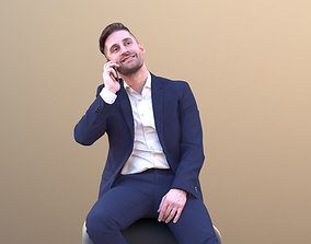 Tony 10639 - Business Man Talking On Phone While 3D asset