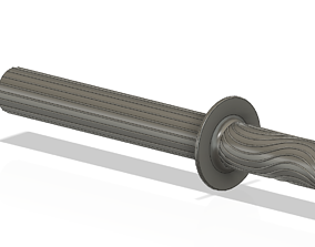 A real paddle handle d32 for a rowing boat for 3d print 1