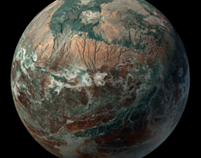 sciencefiction 3D model Planet Arnessk