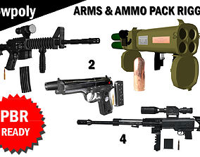 Arms and Ammunition Pack Rigged 3D asset