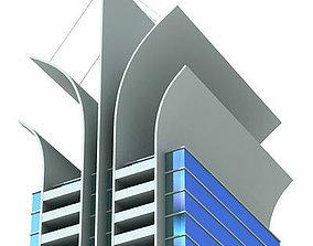 structure Modern City Building 3D