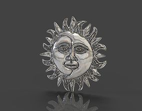 Moon and Sun 3D printable model moon