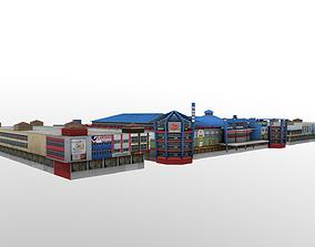 3D asset Mall Building Pontianak Kalimantan