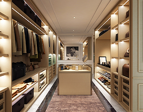 3D model Luxury walk in wardrobe