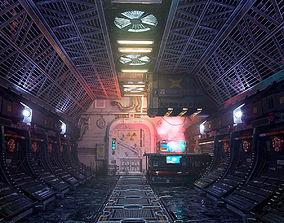 3D scifi interior