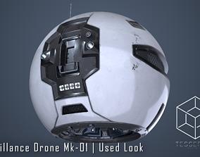 Surveillance Drone Mk1 Used Look 3D model