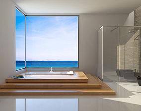 bagno 3D model Bathroom on the sea